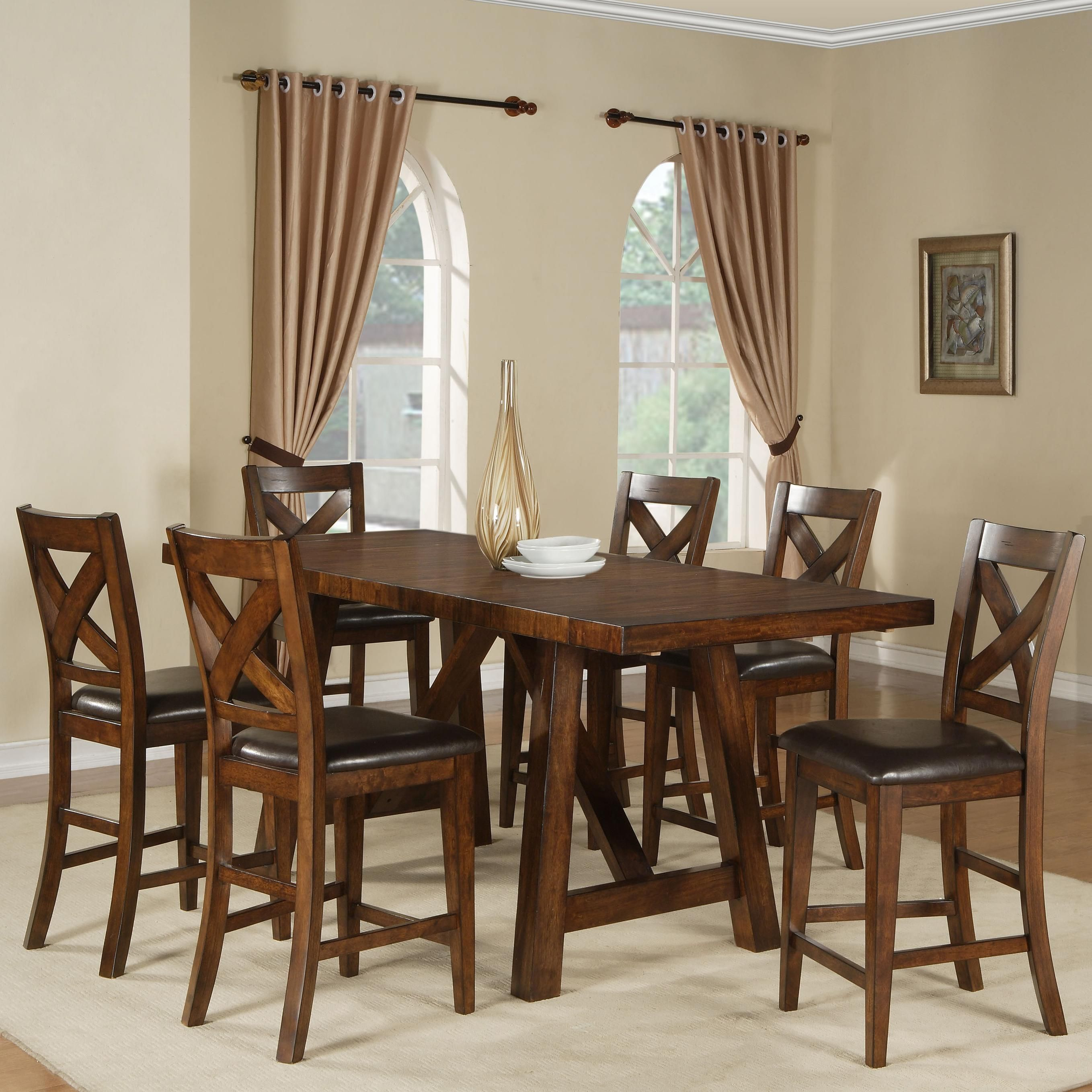 Exceptional Burnished Mango Burnished Mango Counter Table Set By Holland House