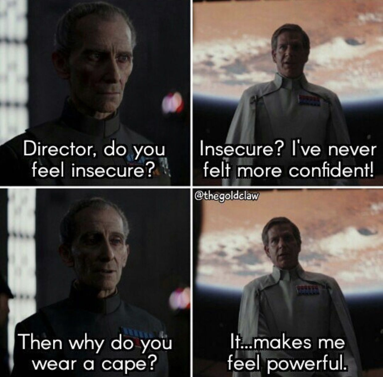 The Power We Are Dealing With Here Is Immeasurable Prequel Memes Feeling Insecure Star Wars