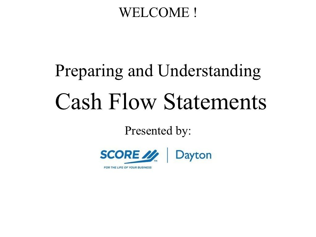 Cash Flow Statements  The Biz    Cash Flow Statement