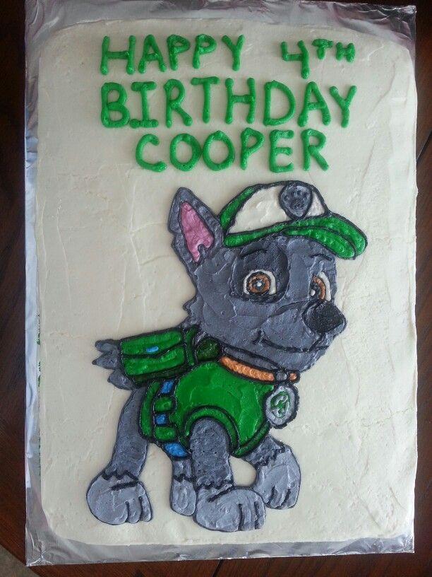 Rocky Paw Patrol Cake Topper Comestible Rocky Paw Patrol personnalisé Fondant Paws
