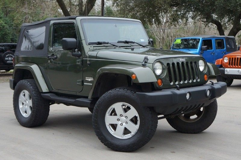 2007 jeep green wrangler sahara 81k miles 6 speed soft top 4 suspension lift w 35 39 all. Black Bedroom Furniture Sets. Home Design Ideas