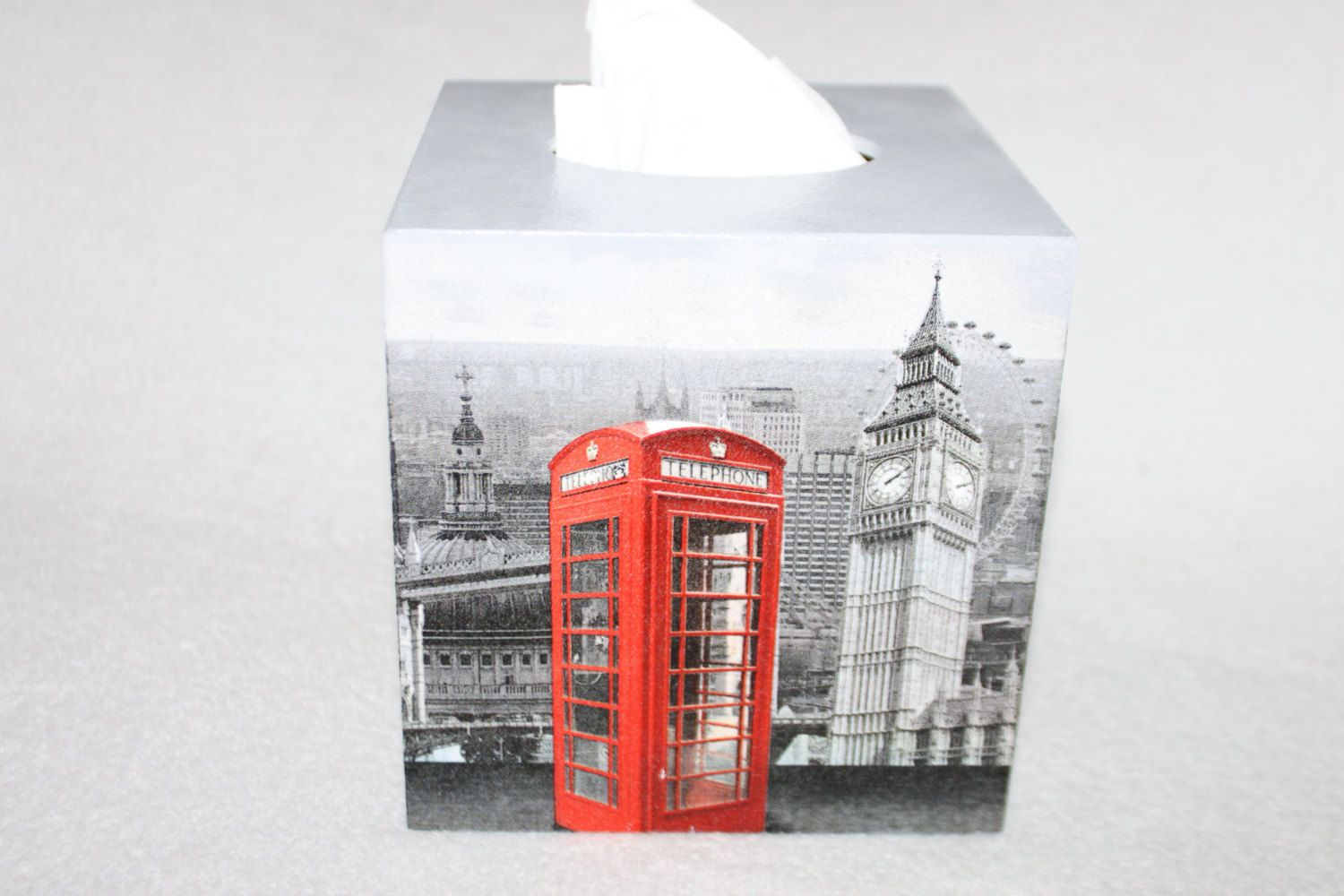 London Tissue Box Cover, London Sightseeing, Big Ben