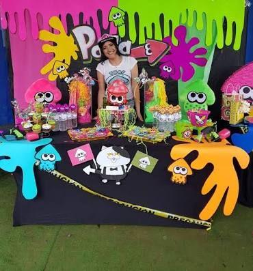 Pin By Rosemary Cedeno On Fiesta Max 8 Slime Birthday Video Games Birthday Party Diy Birthday Party