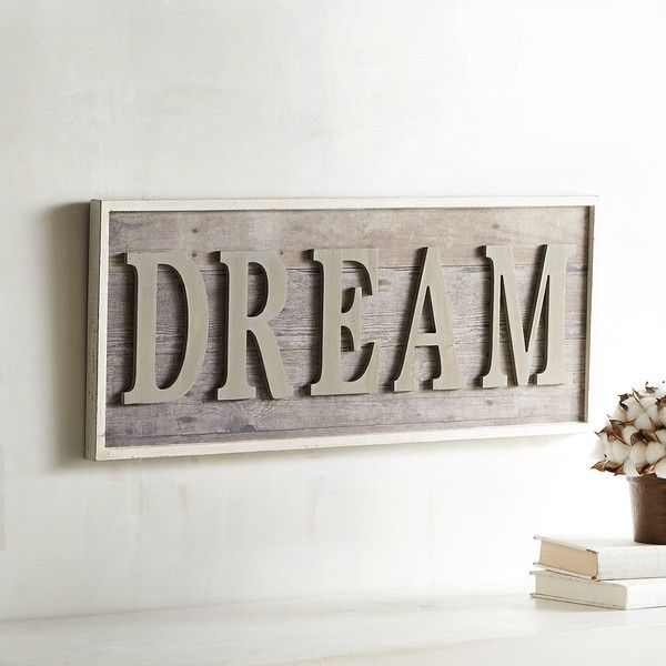 Pier 1 Imports Dream Wall Decor Gray ($40) ❤ Liked On Polyvore Featuring  Home