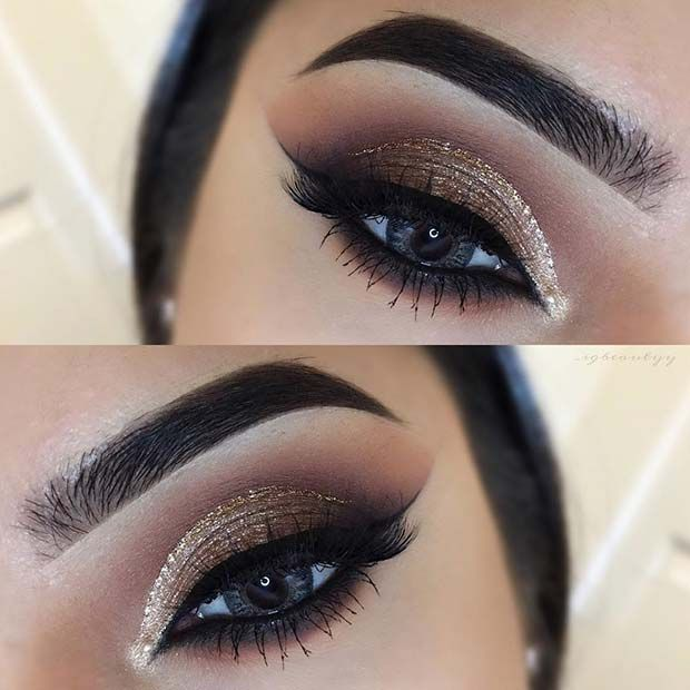 23 Glam Makeup Ideas For Christmas 2017 Glam Makeup Eye Makeup