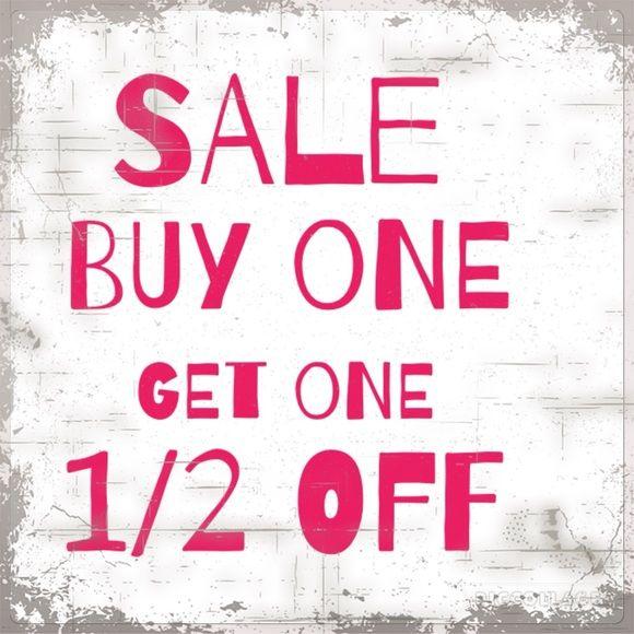 af2b324ce8 Buy One Get One 1/2 Off Sale- til 4.30.16! BOGO 1/2 Off All items ...