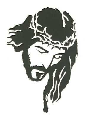 Crown Of Thorns Portrait Scroll Saw Woodworking Crafts Photo