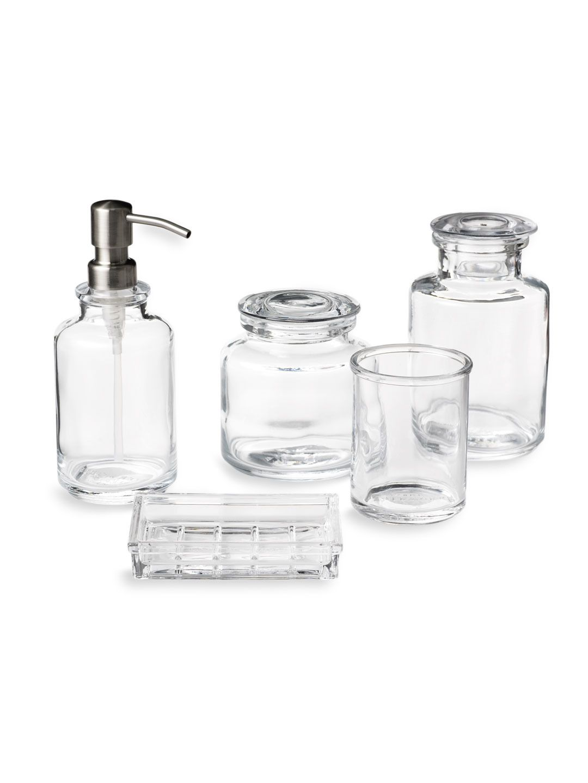 WATERWORKS STUDIO - Vintage Glass range: pump bottle, jars, soap ...