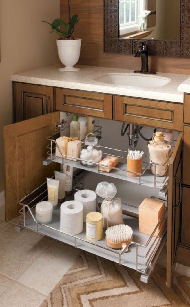 Under Sink Cabinet Roll Out Drawer For Easy Storage And Access