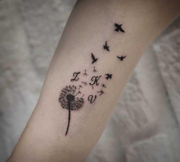 Tatuaż Dmuchawiec Znaczenie Historia 50 Zdjęć Pomysł Na Tatuaż