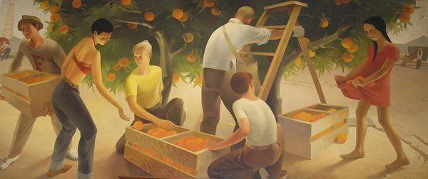 Post Office Mural Fullerton Ca Living New Deal Office Mural Mural Public Art
