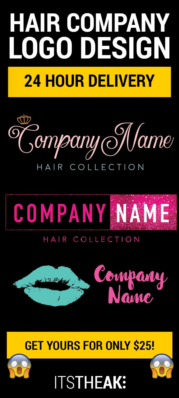 Need A Logo For Your Hair Extension Business In A Hurry Get Your