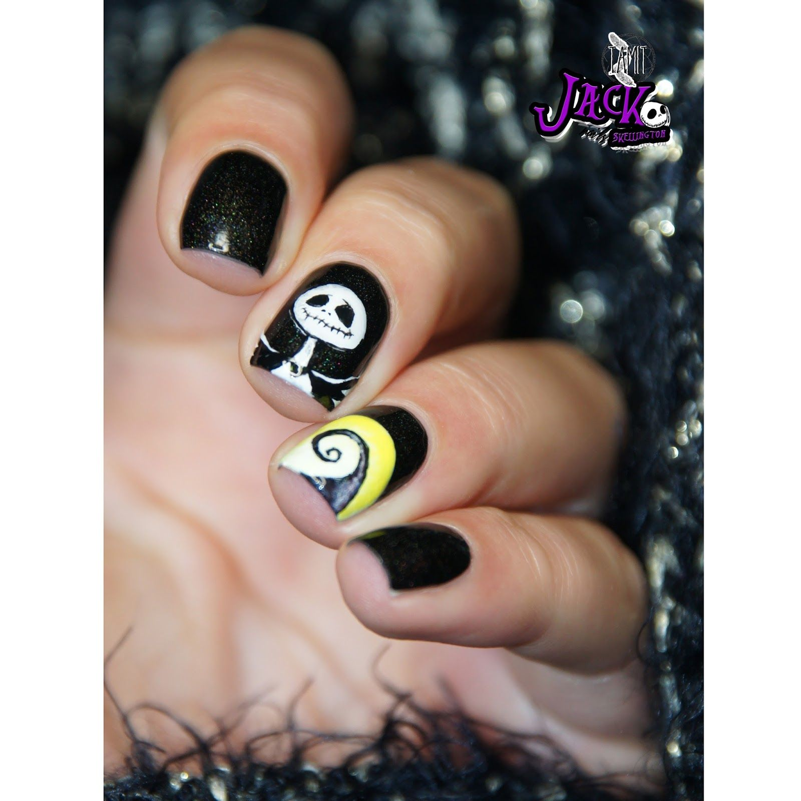 Jack Skellington nails: tutorial. | Nails, Nail art, Nail ...