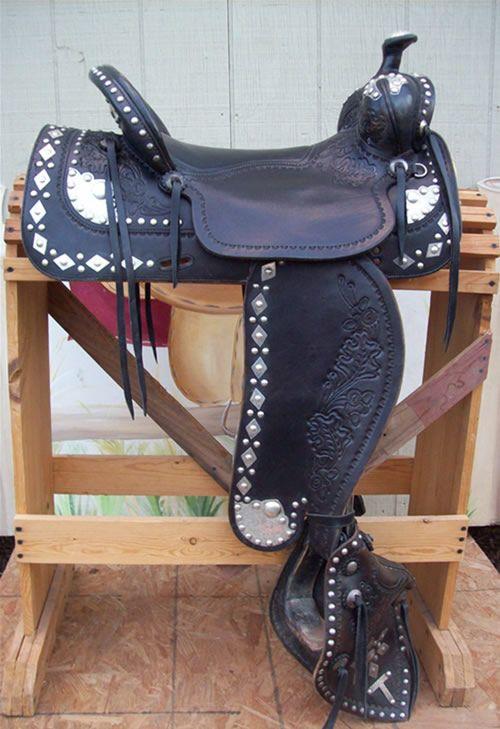 parade saddle (for sale) made by Huston Custom Saddles