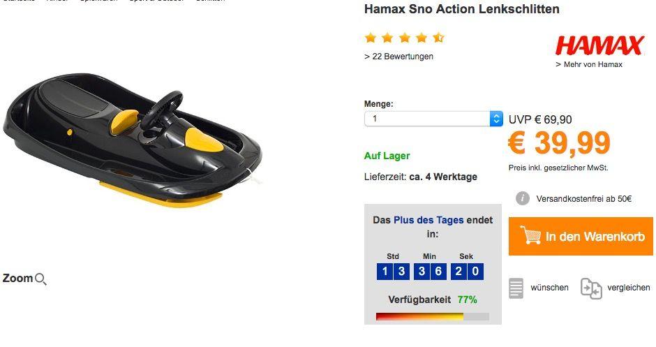 SNO Action HAMAX Schlitten