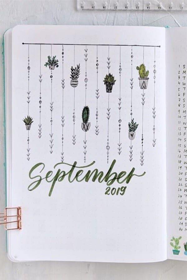 45+ Best September Monthly Cover Ideas For 2019 #septemberbulletjournalcover