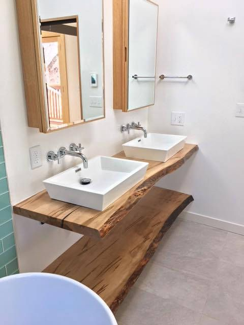 Live Edge Bathroom Counter Live Edge Bathroom Vanity Wood Etsy Wood Countertops Kitchen Live Edge Shelves Wood Bathroom