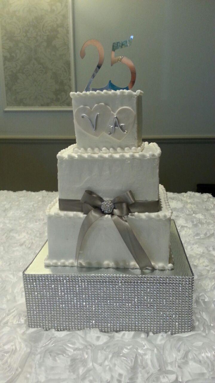 Gâtreau 25 Ans Gâteau Fondant Gâteau Mariage Wedding