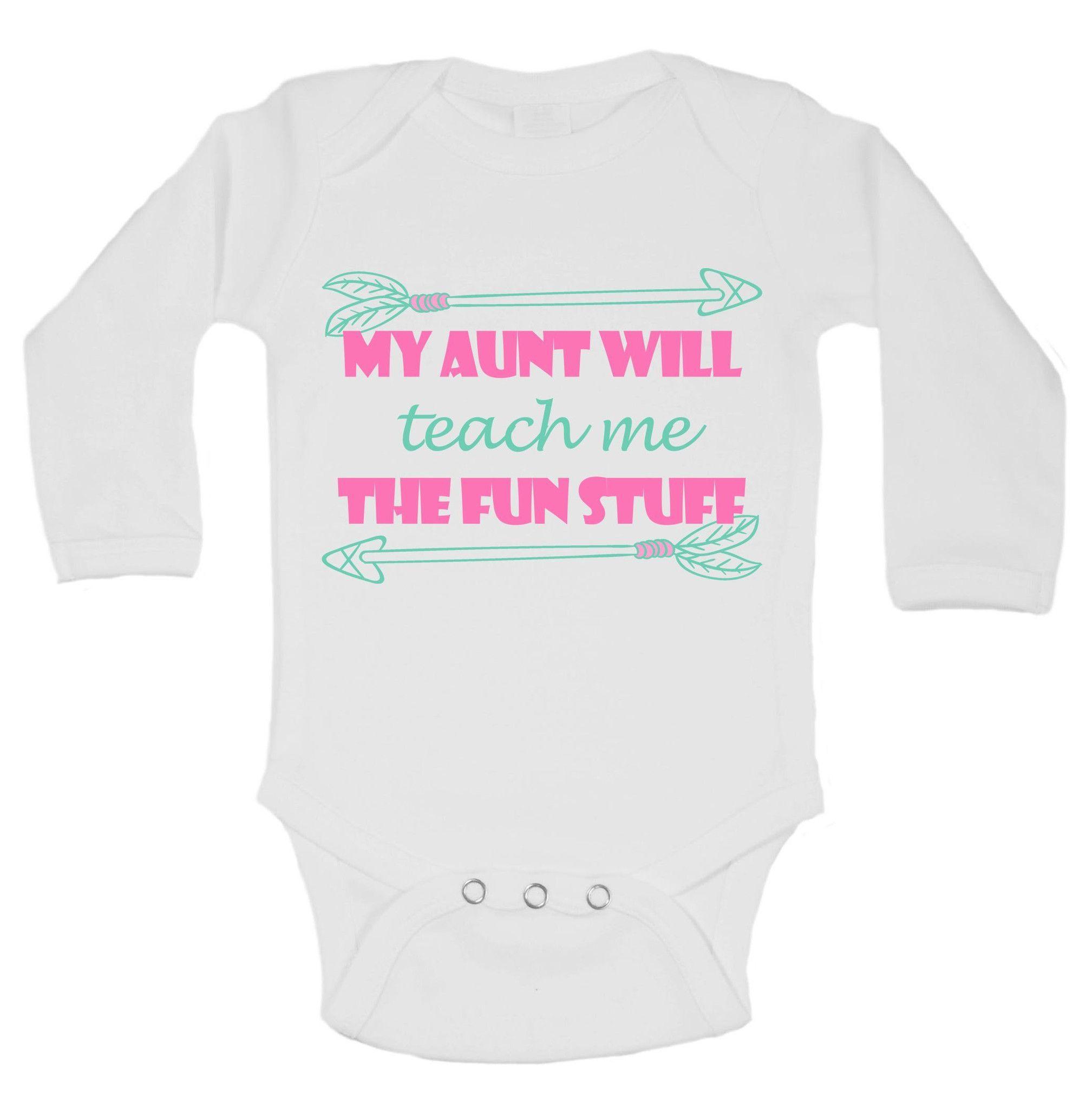 My Aunt Will Teach Me The Fun Stuff Funny Kids esie