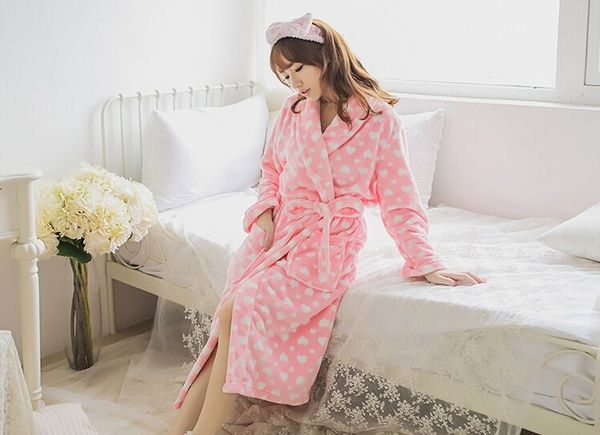 Fashion Candy Color Women Girls\' Coral Fleece Belted Cute Love ...