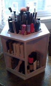 Lori Greiner Spinning Tabletop Cosmetic Makeup Organizer White H164200