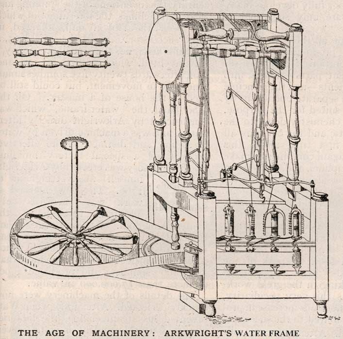 1771 water frame, richard arkwright | History of industry & mining ...