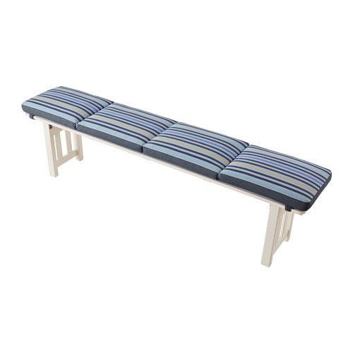 Tasinge Bench Pad Outdoor Blue Ikea Exterior House Bench