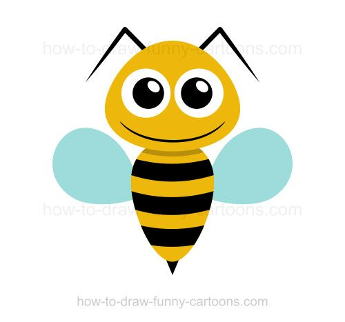 How to draw a bee | Bee drawing, Bee clipart, Owl pictures