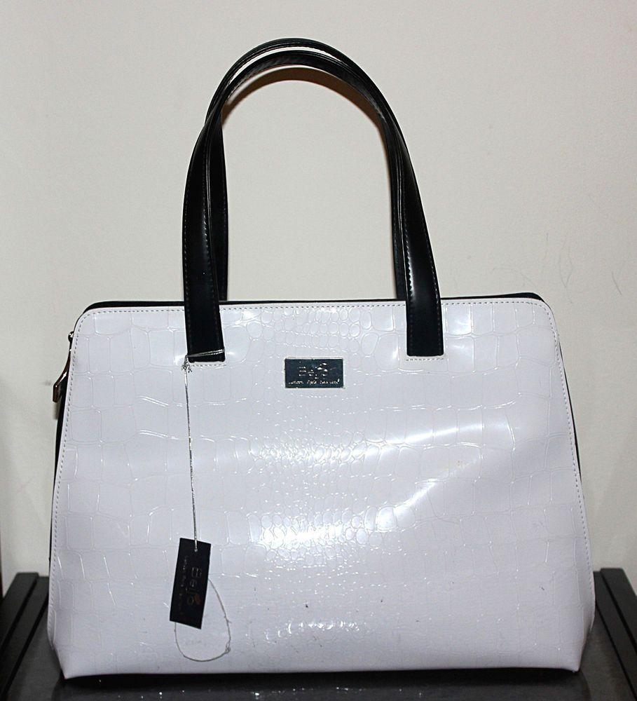 Beijo London Paris New York Black White Tote Handbag Susan Handley Totespers