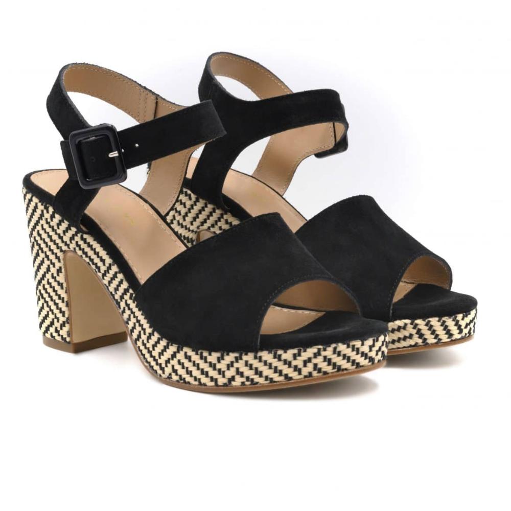 Sandales compensées cuir camel | JULES & JENN