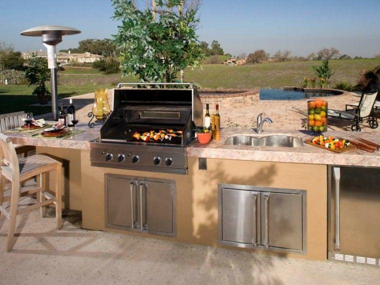 Cocinas modernas para el aire libre 50 ideas exquisitas | Barbacoa ...