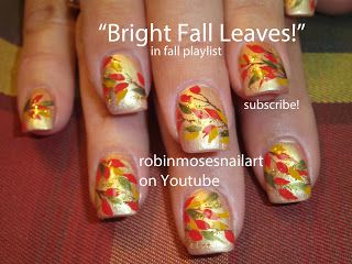 Nail Art By Robin Moses Fall Flower