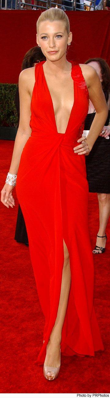 ... Blake Lively wearing Versace red dress - 2009 Emmy Awards Lorraine  Schwartz b4c01fcbbada8