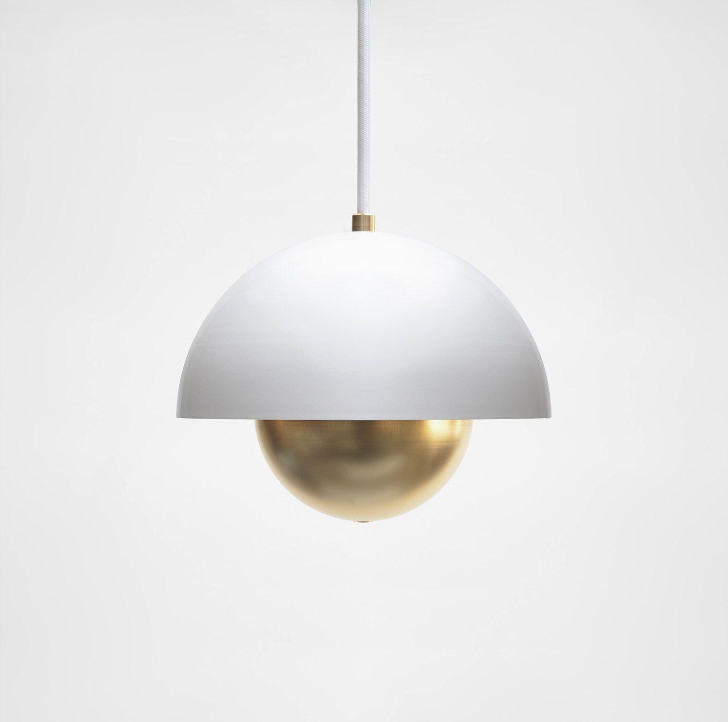 mid century pendant lighting. Modern Pendant Light - Mid Century Minimal Lamp Brass Lighting P