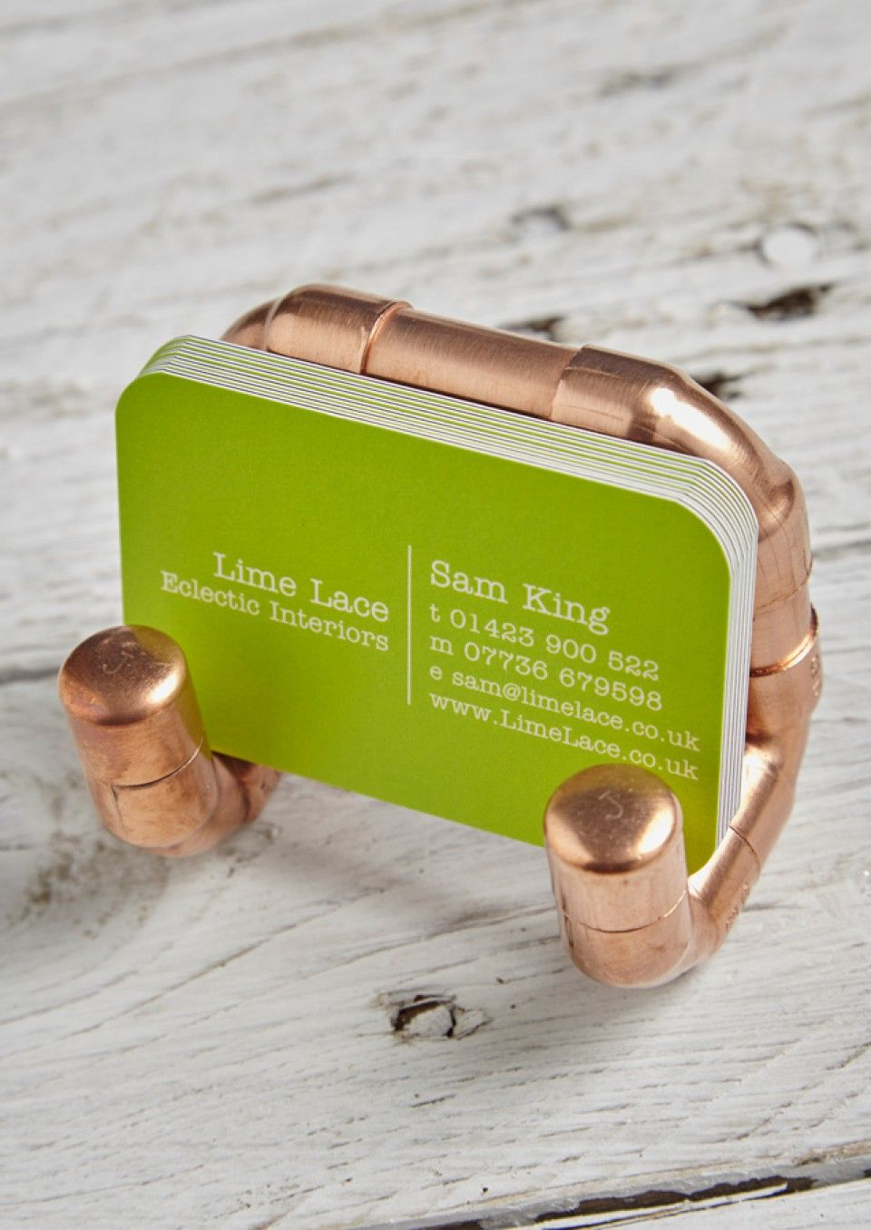 This funky Copper pipe business card holder if the perfect gift for ...