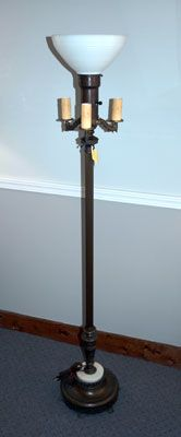 Antique Style Floor Lamps Four Bulb Antique Floor Lamp With