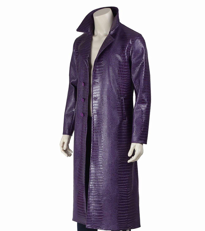 Suicide Squad Jared Leto Joker Purple Crocodile Texture Leather ...
