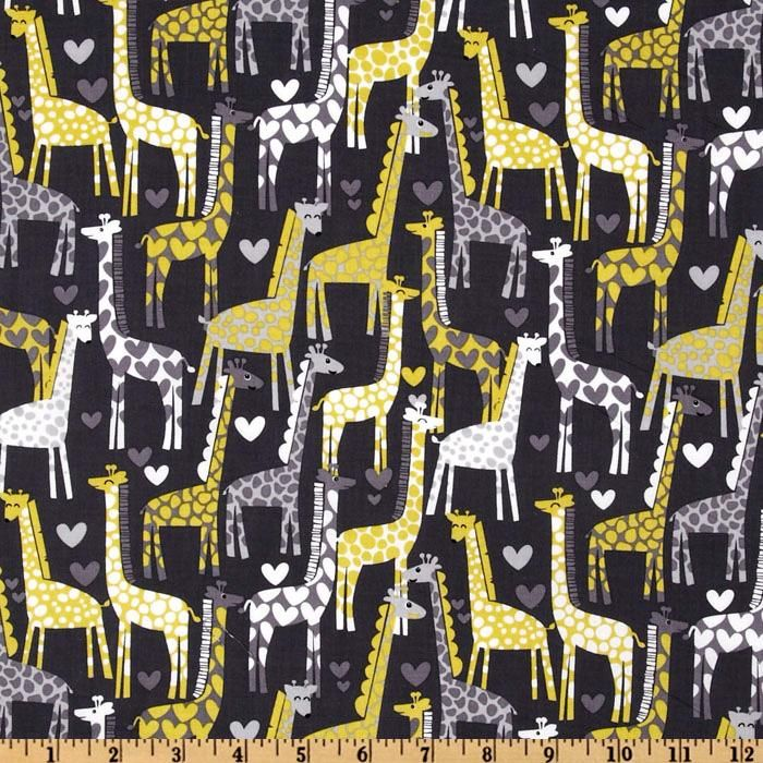 Giraffes Print Flannel Quilting Fabric Michael Miller Sold By the Metre