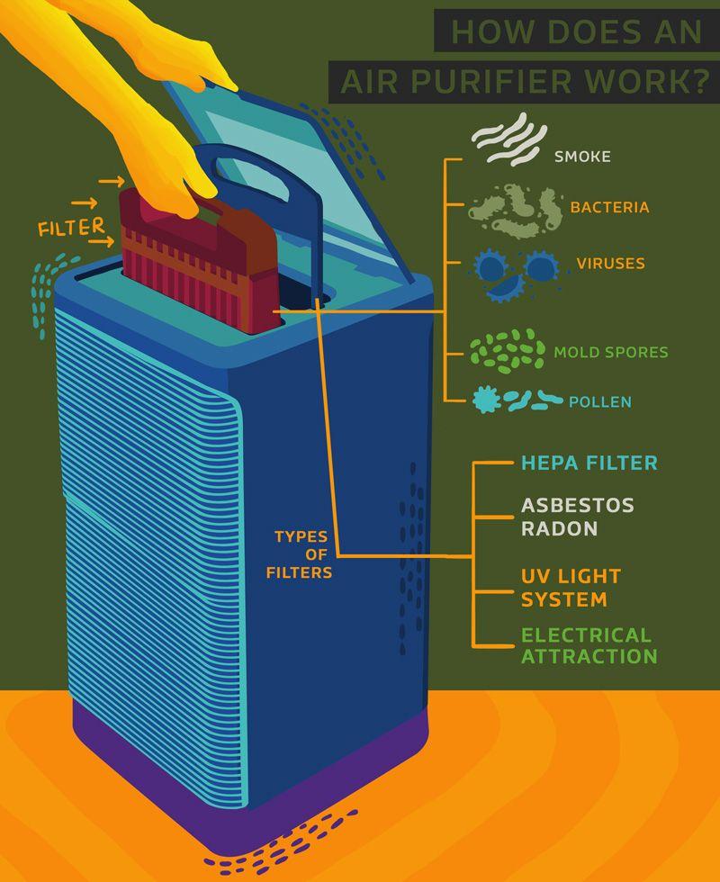 How Does An Air Purifier Work Air Purifier Purifier Heat