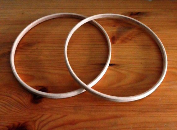 Pack of Two 7 Wood Hoops for Craft Projects, Dreamcatchers, Pentacles &  Mobiles