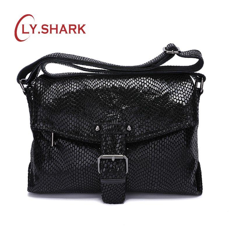 c06cf537ab37 SHARK Luxury Handbags Women Bag Designer Genuine Leather Women Shoulder Bag  Messenger Bag For Women 2019 Crossbody Bag Female