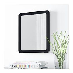 GRUA Spiegel, zwart - Ruimtes, Spiegel en Ikea