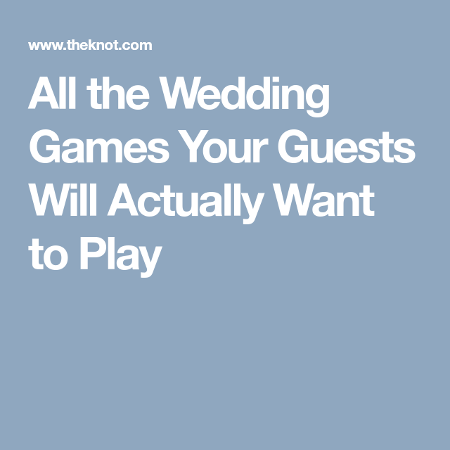 Wedding Games For Guests: All The Wedding Games Your Guests Will Actually Want To