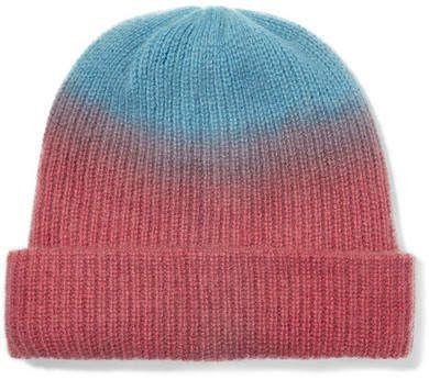 a94bbb67d The Elder Statesman Watchman Tie-dyed Ribbed Cashmere Beanie - Red ...