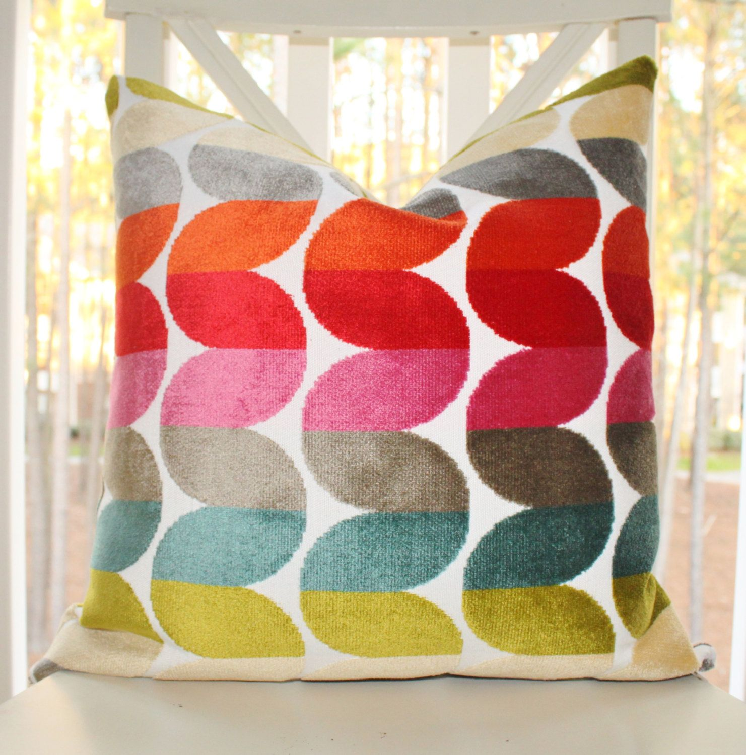 bright colored sofa pillows klaussner leather 35 00 turquoise teal blue grey jacquard zig zag pillow