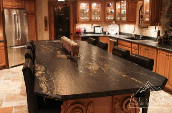 Lovely Tuscany Style Kitchen With Beautiful Textured Granite   Beautiful Tuscan  Style Kitchen With River Washed Cyclone Granite. The Amazing Visio.