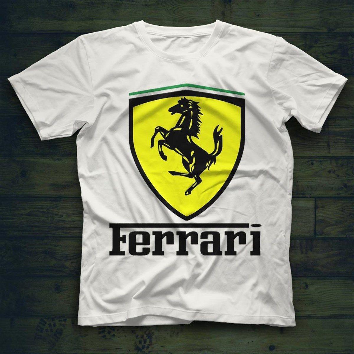 Ferrari White Unisex T Shirt Tees Shirts T Shirt Shirts Tee Shirts