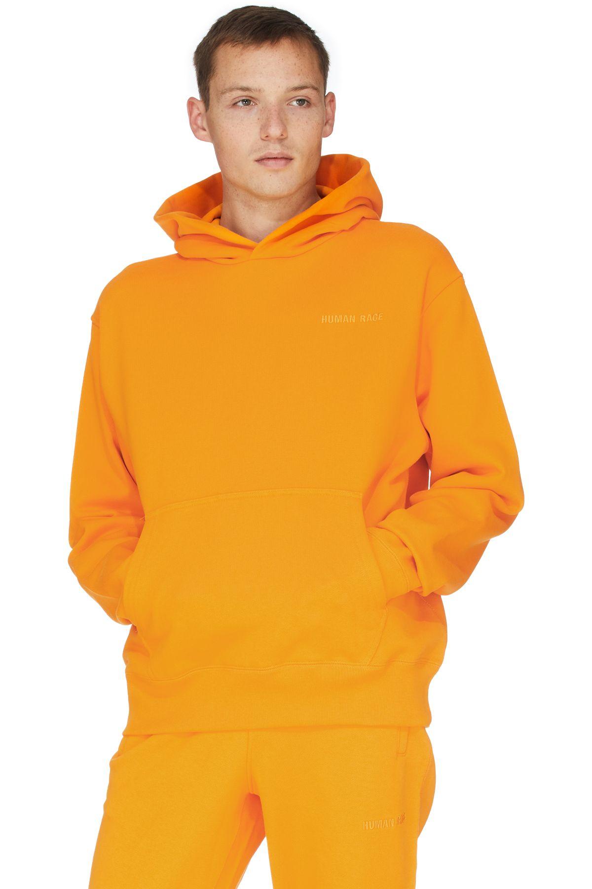 Adidas Originals X Pharrell Williams Pharrell Williams Basics Hoodie Bright Orange Orange Outfit Pharrell Williams Monochromatic Outfit [ 1800 x 1200 Pixel ]