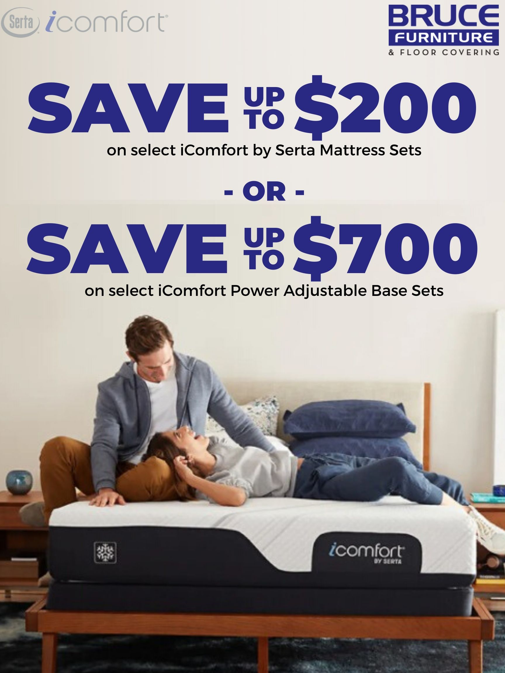 Hurry Into Bruce Furniture For Our Big Presidents Day Sale Save Up To 200 On Select Icomfort By Serta Mattress S In 2020 Furniture Shop Mattress Sets Serta Mattress