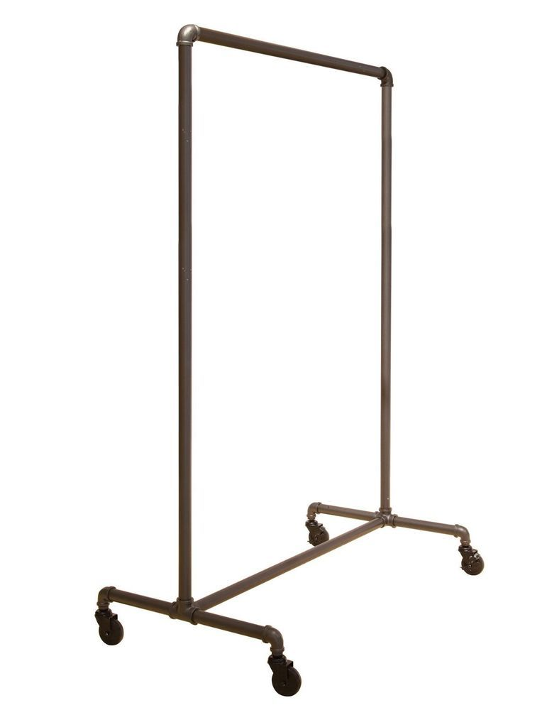 Pipe Series Commercial Quality Rolling Garment Clothing Rack Interesting Commercial Coat Racks